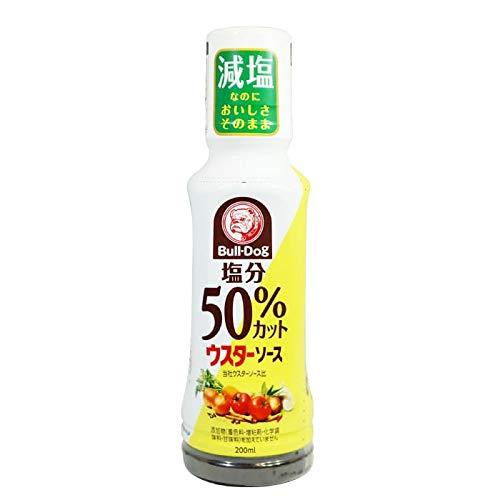 ブルドックの塩分50%カットウスターソース