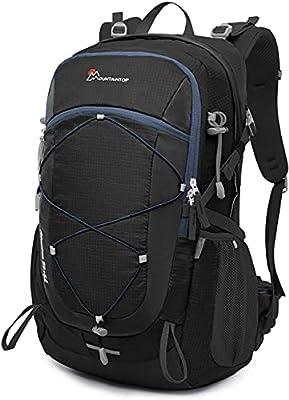 Mountaintop 22L/28L/40L Unisex Hiking/Camping Backpack (40L-Black+Blue)