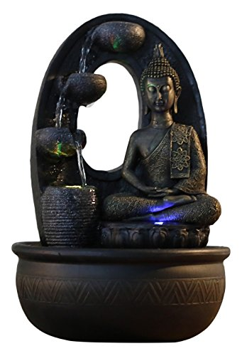 Zen Light, Harmonie - Fontana in poliresina, 26 x 16 x 40 cm, Colore: Nero