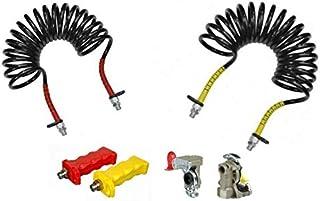 Fahrzeugbedarf Wilms Set: Luftwendel mit Kupplungskopf und Kuppelhilfe Druckluftbremse Wellschlauch Bremsschlauch M16