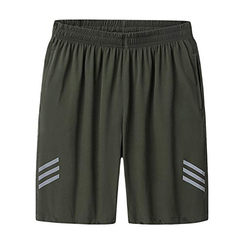 TSHULY Men's Lightweight Running or Gym Training Shorts with Pockets