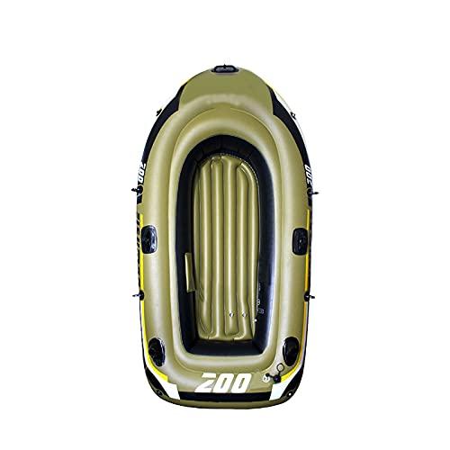 YHWD Barco Inflable de Kajak Inflable Triple, Barco de Goma de PVC, Cámara Independiente de Casco Espesado, Adecuado para Playas de Surf Latente Niños Adultos