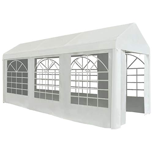 Goliraya Party Tent Party Tent for Outdoor Events Sturdy Frame Light Weight PE 2x5 m White