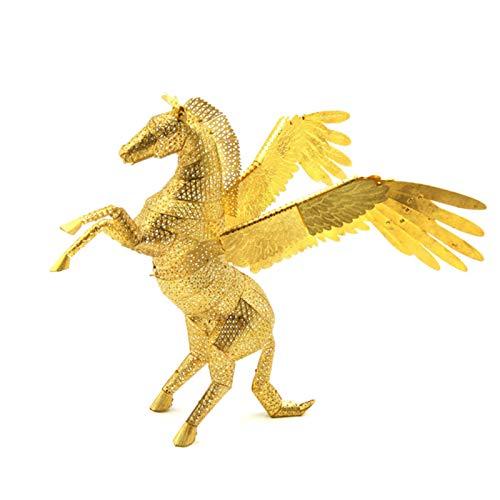 Metal 3D Puzzle, Maqueta Metalica De Pegasus, DIY Monta Kits De Edificio Modelo Laser Cut Jigsaw Toy, Adultos Kits De Edificio Modelo De Acero Inoxidable Niños, 17 X 13 X 16 Cm
