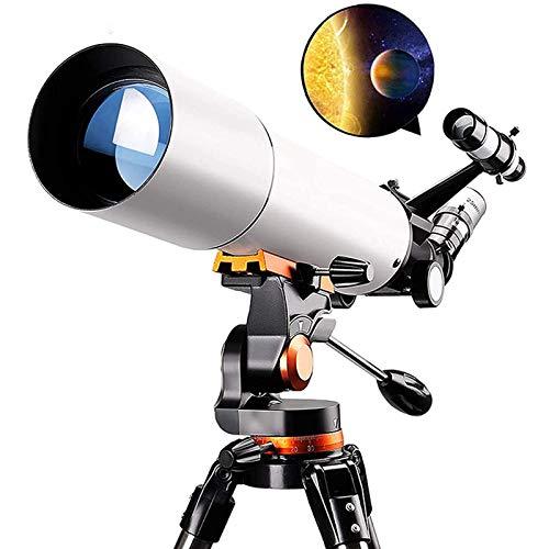 Telescopio Astronomico 50080 Telescopi Per Astronomia Telescopio Rifrattore Professionale Per Adulti, Con Adattatore Per Telefono Con Lente Di Barlow Regolabile Per Treppiede in Acciaio Inossidabile