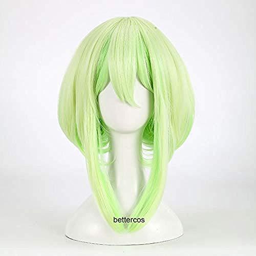 PROMARE Mad Burnish Lio Fotia Cosplay peluca 35cm pelucas de pelo sinttico resistente al calor recto corto + gorro de peluca