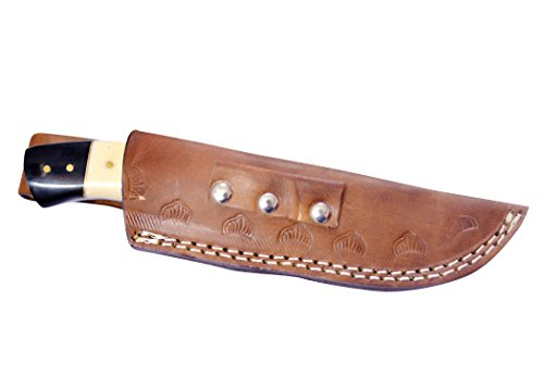 Nescole Handmade Damascus Eight-Inch Bowie Knife