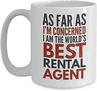 Tasse d'agent de location En ce qui me concerne, je suis le meilleur agent de location au monde Cadeau de tasse de café dr...