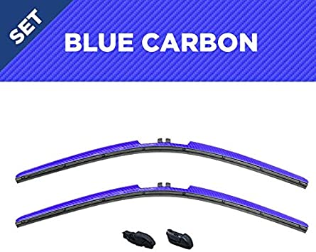 Clix Wipers - Blue Wiper Blades for Jeep Wrangler - All-Weather Replacement Windshield-Wipers for All Wrangler/Unlimited Models (1996-2017) - Set of 2 Blades: image