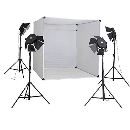 METTLE Studioset Cube 900 mit XXL Foto-Lichtzelt, Lichtbox 28x85 W