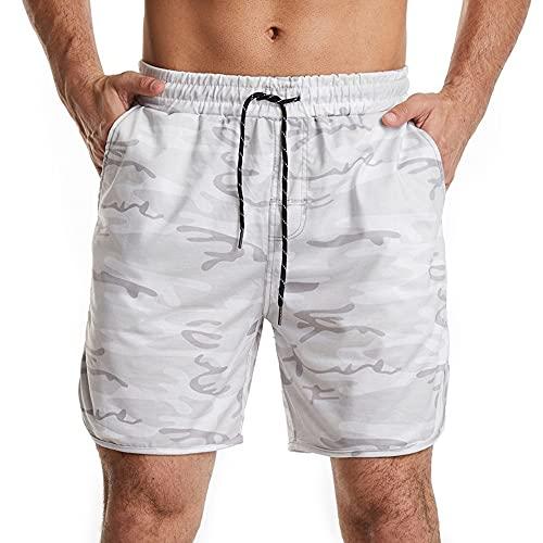 Los hombres Fresco De Verano Transpirable Casual Entrenamiento Hombres Pantalones Cortos Ropa Cómodo Camo