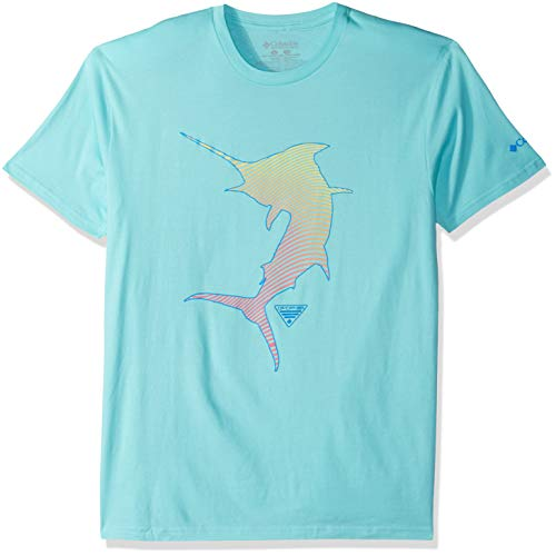 Columbia Apparel Men's Standard PFG Graphic T-Shirt, Gulf Stream/Cuesta, Large