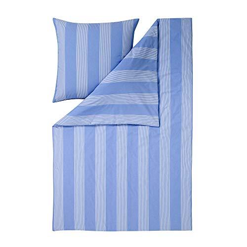 EStella Niels Bed Linen Blue, Cotton, blue, 135 x 200 + 80 x 80