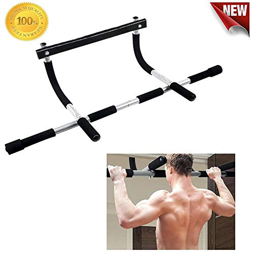 WAQIA Indoor Fitness Pull Up Bar Doorway Upper Body Workout Bar Chin-Up Horizontal Bar Portable Gym System Multi-Gym Sports Equipment for Home Gym Exercise