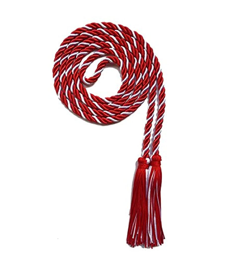 Graduation Honor Cord Two-color Braided Grad Days(White Red)