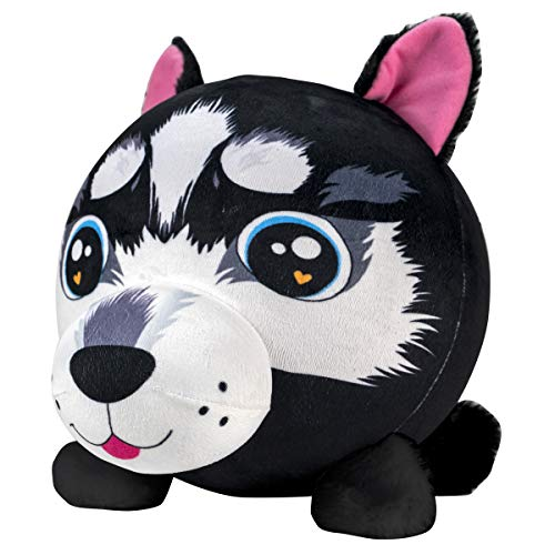 Fuzzy Wubble - Roxy the Dog - Wubble Balls on the Inside and Adorable Soft, Fuzzy Plush Animals on the Outside - Inflatable Squishy Toys for Kids to Cuddle and Bounce
