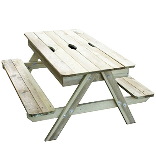 TRIGANO Pic nic houten tafel Kind met geïntegreerde zandbak