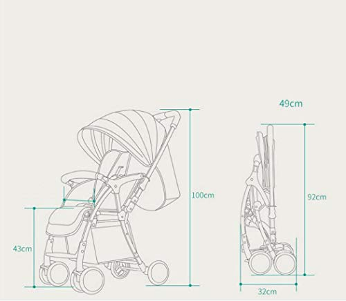 RAPLANC High Landscape Stroller, Lightweight Foldable, 4Seasons Universal, Stereo Shock Absorber, 360-Degree Rotation Function, Color : Green,Black RAPLANC * stereo shock absorber frame structure to prevent your baby from receiving shocks *Widened and extended sleeping basket, spacious, baby activities freely *Four seasons universal /increased storage basket / five-point seat belt 6