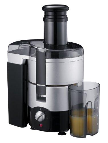 Severin ES 3559 Entsafter, silber-schwarz/Tresterbehälter 2,0 Liter Inhalt/Saftauffangbehälter 1,0 Liter Inhalt