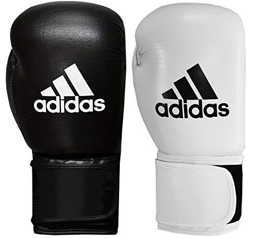 adidas Boxing Gloves Mens Womens Kids Leather 8oz 10oz 12oz 14oz 16oz 18oz Performer Boxhandschuhe, Schwarz, 226,8 g (8 oz)