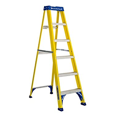 Louisville Ladder 6-Foot Fiberglass Step Ladder, 250-Pound Capacity, FS2006