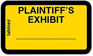 Tabbies Tabbies Plaintiff's Exhibit Legal File Labels - 1.62