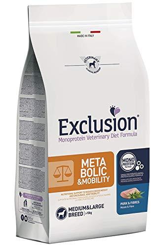 Exclusion Metabolic Mobility Medium/Large con Maiale E Fibre per Cani da 12 kg