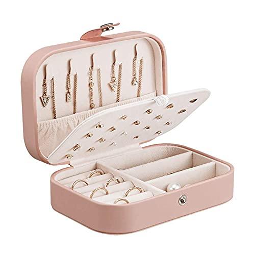 HCYY Joyero pequeño organizador de joyas para mujeres y niñas, pendientes, organizador de collar y caja de almacenamiento de joyas