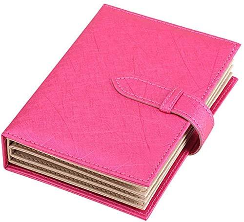 Almacenamiento Joyas Bolsa Cuero Organizador Libro Forma Estuche Portátil para Múltiple Collar,Pendientes,Anillos,Pulsera - Rosado