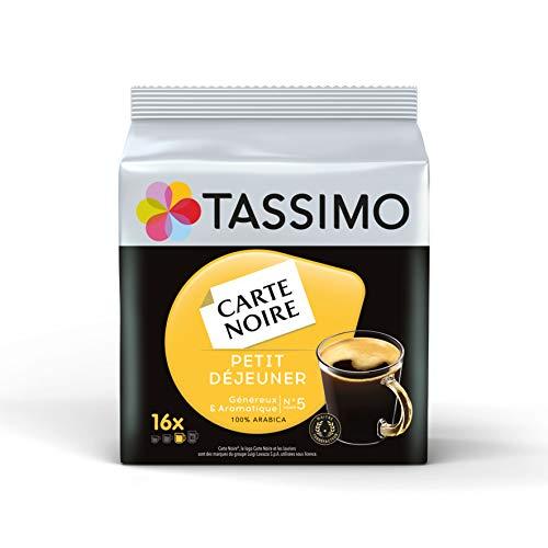 Tassimo Café Dosettes - 80 boissons Carte Noire Petit Déjeuner (lot de 5 x 16 boissons)