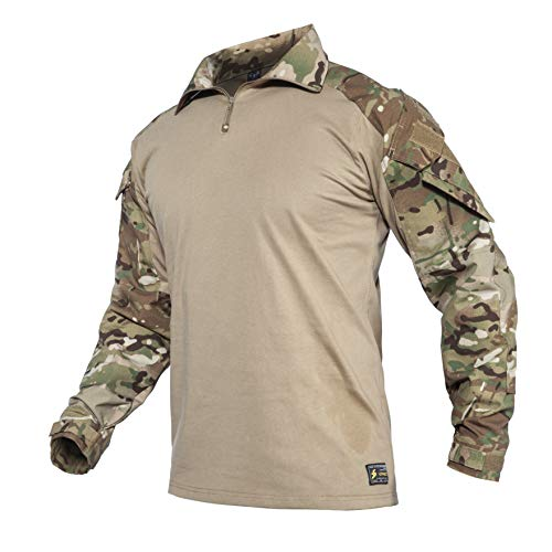 YEVHEV G3 Combat Tactical Camouflage Shirt with Elbow Pads for Men Hunting Uniform Paintball Gear