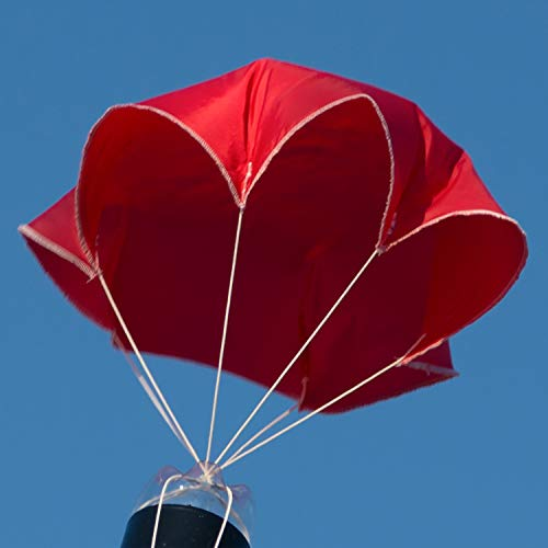 "Relationshipware StratoChute 24"" Red Rip-Stop Nylon Parachute for Water or Model Rocket"