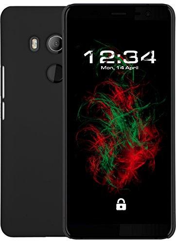 Baluum Coque Rigide gommée Noir pour HTC U11 Plus Cas de téléphone Coquille Housse de téléphone