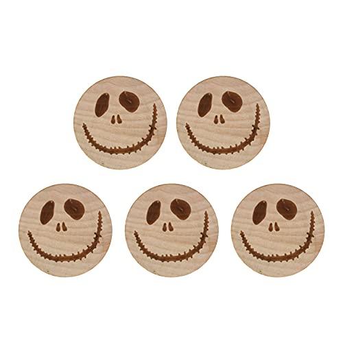 YUNYODA Abrebotellas, 5 pcs Abrebotellas Única en Forma de cara sonriente, Abridor de Botellas de Acero Inoxidable y madera, sticker pegatina magnética de refrigerador, Abridor de Cerveza