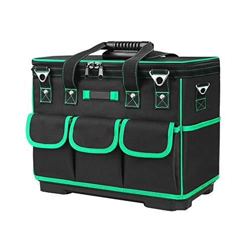 Qilo Bolsa Herramientas Bolsa de herramientas lienzo de gran capacidad, bolso especial for la reparación de electrodomésticos, plástico inferior multifunción espesado bolsa de herramientas, for el bri