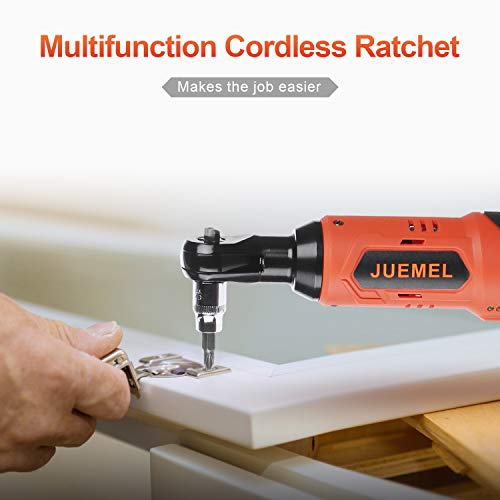 16.8V Cordless Electric Ratchet Wrench Set, JUEMEL 3/8