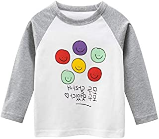 ZOUJIN 2-8 Years Old Children's Cotton Long Sleeve T-shirt Cute Cartoon Top Boys And Girls KIDS Clothing (Color : Ht350 m ...