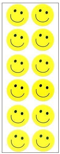 【10枚セット】スマイルシール スマイル2列黄色 BZC735【ご注文1回につき1個 サン・クロレラ サンプルプレゼント!】