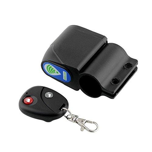 自転車用盗難防止アラーム 振動感知式 大音量110dbで警告 取付簡単 ワイヤレスリモコン付 防犯用セキュリティアラーム FMTALM99