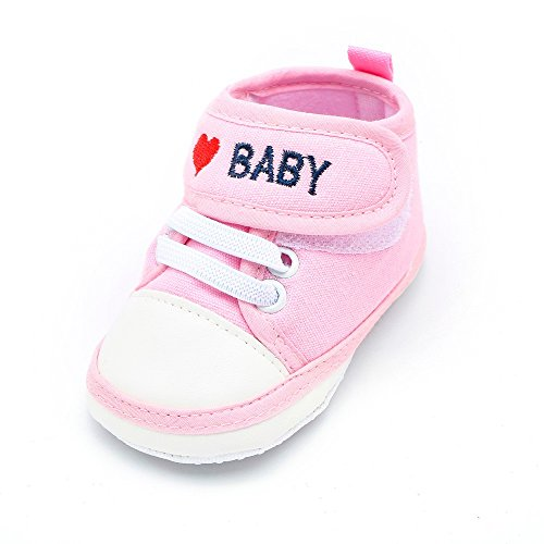 Babyschuhe I Love Baby Lauflernschuhe Unisex Mädchen Jungen Sneaker Schühchen weiche Leinwand Sneaker Kleinkind Schuhe
