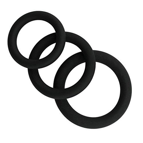 Penisringe Cockringe, Silikon Male Enhancement Übungsbänder O-Ring 3 unterschiedliche Größe Flexible Ringe