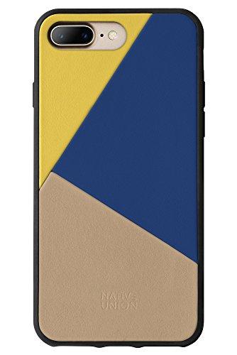 Native Union CLIC Marquetry Hülle - Echtem Italienischem Nappaleder für iPhone 7 Plus, iPhone 8 Plus (Canary)