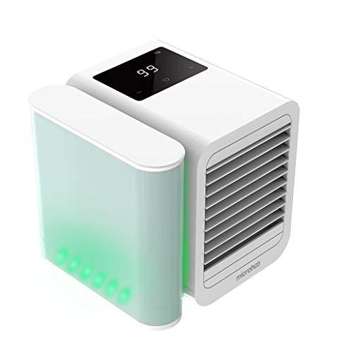 Microhoo Raffreddatore ad aria con luce, domestico piccola ventola di raffreddamento dell'aria mini dispositivo di raffreddamento dell'aria desktop piccola aria condizionata