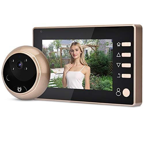 Spioncino Elettronico,Spioncino Digitale Peephole Viewer,Schermo LCD 4,3 Pollici+Videocamera HD 1MP+90° Angle View+Visione notturna IR+IP55 Impermeabile,Spioncino Telecamera per Sicurezza Domestica
