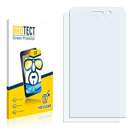 BROTECT Schutzfolie kompatibel mit Wiko Fizz (nur Kamera rechts) (2 Stück) klare Bildschirmschutz-Folie