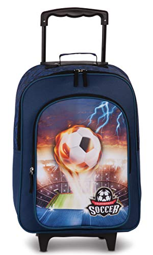 Fabrizio Football Kindertrolley Soccer Marineblau Trolley 20601-0600