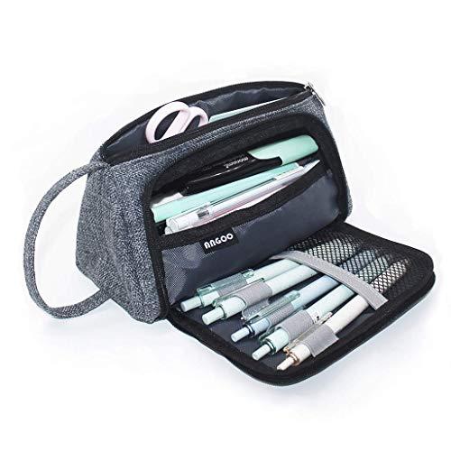 pencil case,TAOtTAO Pencil Case Big Capacity Storage Bag Pen Pouch Holder Large Storage Stationery (A)