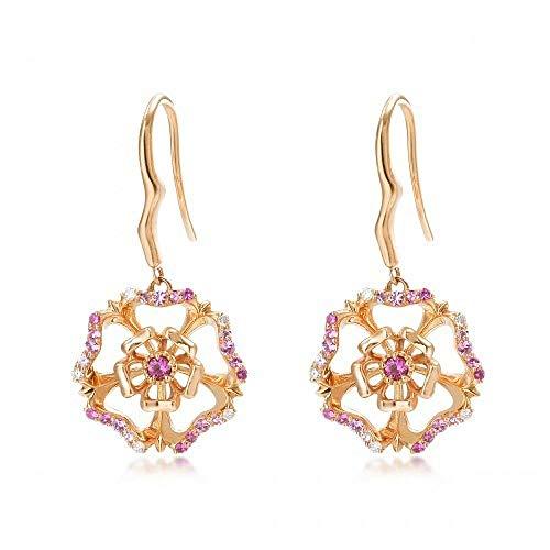 Ohrringe rosa Edelstein klingeln Ohrringe Koreanische Silberschmuck Ohrringe Kdw