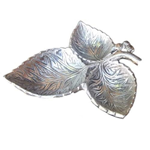 Three Leaf Nuts Dry fruit Serving bowl/tray, Return gift article, Antique Elegant silver Imitate look, Nuts,dry fruit serving bowl/Tray.