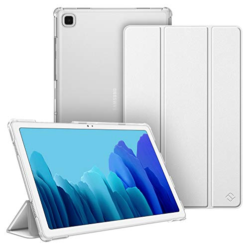 Fintie Hülle für Samsung Galaxy Tab A7 10.4 2020, Superdünn Schutzhülle mit durchsichtiger Rückseite Abdeckung Cover, Auto Schlaf/Wach für Samsung Galaxy Tab A7 10.4 SM-T500/T505/T507, Silber